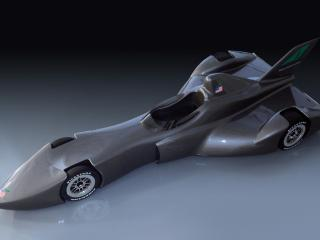 обои 2010 DeltaWing Racing IndyCar Concept сверху фото