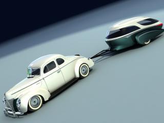 обои для рабочего стола: 2007 Bo Zolland Retro Caravan белый