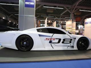 обои 2008 Sunred SR08 GT1 Concept белая сбоку фото