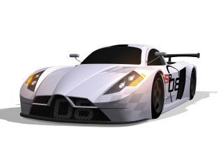 обои 2008 Sunred SR08 GT1 Concept капот фото