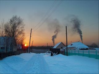 обои Зимний вечер фото