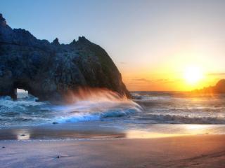 обои Волны и мыс фото