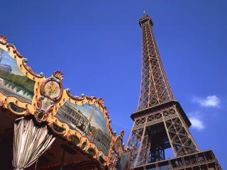 обои Вид на Эйфелеву башню фото