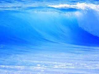 обои для рабочего стола: Голубая волна