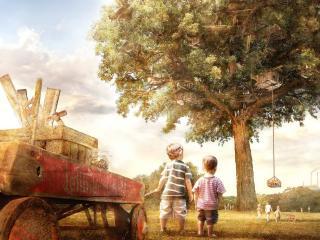 обои Огромное жилище детей фото