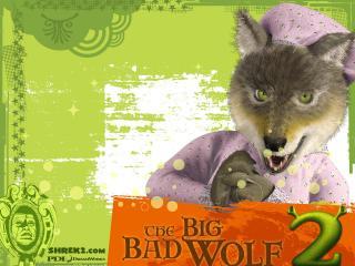 обои Шрек 2 волк фото