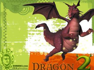 обои Шрек 2 дракон фото