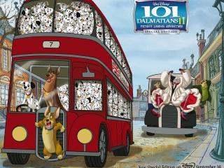 обои 101 далматинец автобус фото