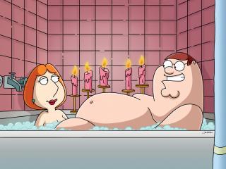 обои Гриффины ванна фото