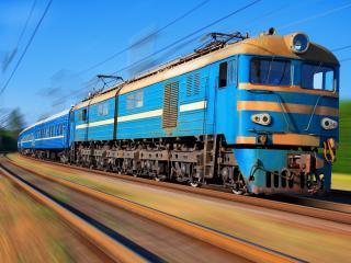 обои Поезд в движение,   вл-8 фото