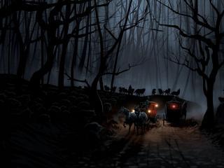 обои Ночные волки фото