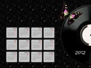 обои Календарь 2012 - Пластинка фото