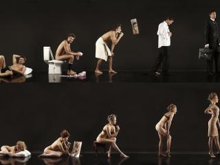обои Мужская и женская эволюция фото