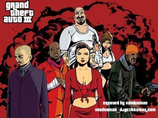 обои Grand Theft Auto 3 банда фото