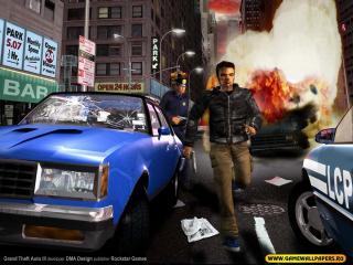 обои Grand Theft Auto 3 взрыв фото