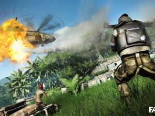 обои Far cry 3 вертлет сбит фото