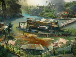 обои Far cry 3 деревушка фото