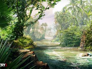 обои Far cry 3 река фото