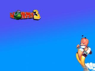 обои Worms 3 взлетает фото