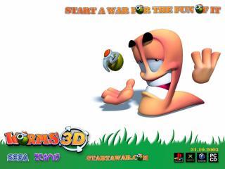обои Worms 3D граната фото