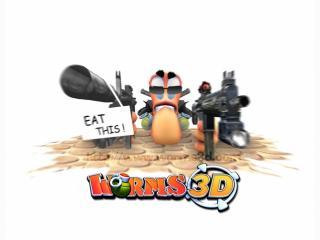 обои Worms 3D опасный фото