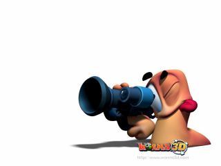 обои Worms 3D хитрый фото