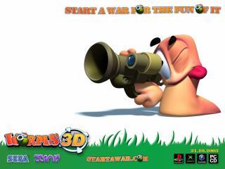 обои Worms 3D целиться фото
