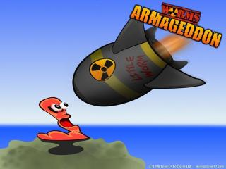обои Worms Armageddon бомба фото