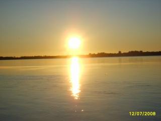 обои Закат над озером фото