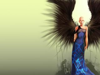 обои Бритоголовый ангел смерти фото