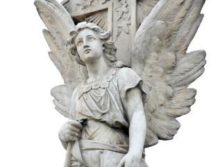 обои Мраморное изваяние ангела фото