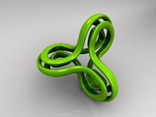 обои Зеленый трехконечный объект фото