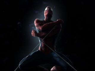 обои для рабочего стола: Человек-паук перед прыжком