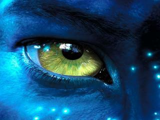 обои Зеленый глаз Аватара фото