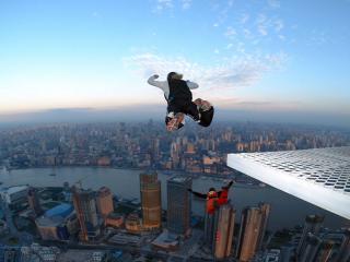 обои Прыжки с небоскрёбов фото