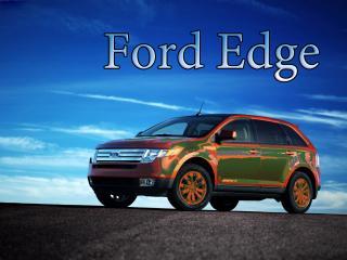 обои Ford Edge- оранжевый на фоне неба фото