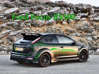 обои Ford Focus RS500 черный фото