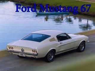 обои Ford mustang 67 на фоне озера фото