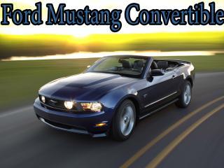 обои Ford Mustang Convertible на закате фото
