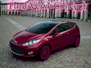 обои Ford Verve Concept бордового цвета фото