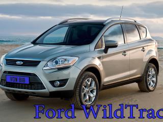 обои Ford WildTrack на фоне неба и песка фото