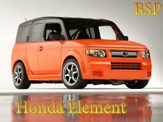 обои Honda Element на фоне лужи и серой стены фото