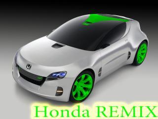 обои Honda REMIX с салатовыми дисками фото