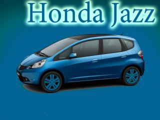обои Honda Jazz на синем фоне фото