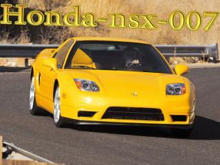 обои Honda-nsx-007 желтая фото