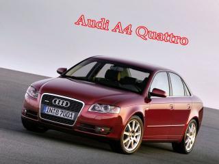 обои для рабочего стола: Audi A4 Quattro красного цвета