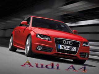 обои для рабочего стола: Audi A4 едет в тунеле