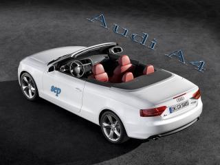 обои для рабочего стола: Audi A5 Cabriolet белый  кабриолет