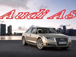 обои Audi A8 на фоне NEW YORK фото