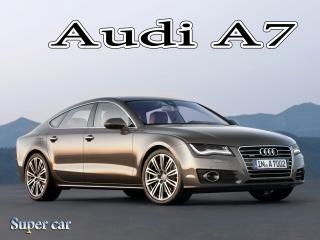 обои для рабочего стола: Audi A7 на Фоне гор